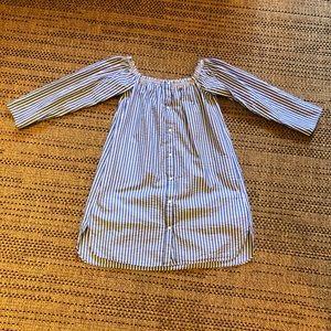 Zara Blue/White Stripe L/S Dress Size XS